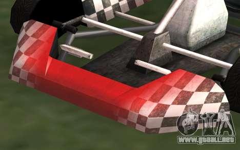 Actualizado Kart para GTA San Andreas para GTA San Andreas vista posterior izquierda