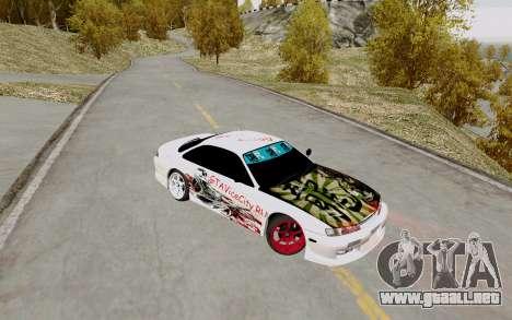 Nissan Silvia S14 VCDT para GTA San Andreas vista hacia atrás