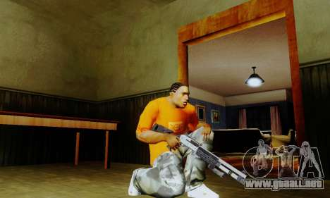 Weapon pack from CODMW2 para GTA San Andreas segunda pantalla