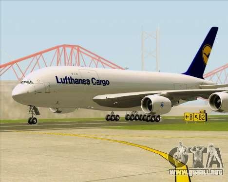 Airbus A380-800F Lufthansa Cargo para GTA San Andreas left