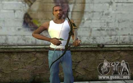Green Arrow Bow v2 para GTA San Andreas tercera pantalla