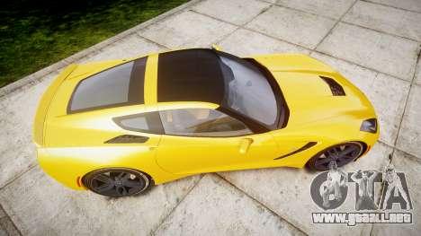 Chevrolet Corvette C7 Stingray 2014 v2.0 TireCon para GTA 4 visión correcta