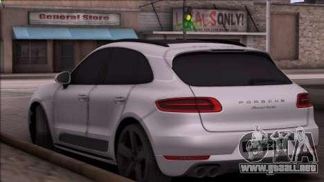 Porsche Macan para GTA San Andreas vista posterior izquierda