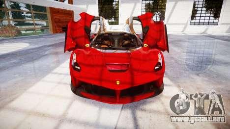 Ferrari LaFerrari para GTA 4 vista superior