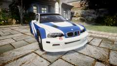 BMW M3 E46 GTR Most Wanted plate NFS Pro Street para GTA 4