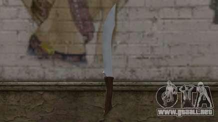 Cuchillo de acero para GTA San Andreas