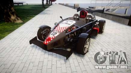 Ariel Atom V8 2010 [RIV] v1.1 Rosso & Bianco para GTA 4