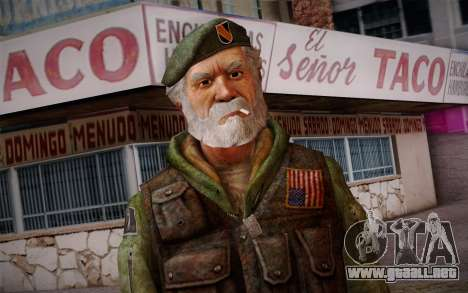 Bill from Left 4 Dead Beta para GTA San Andreas tercera pantalla