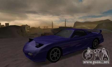 Beta ZR-350 para GTA San Andreas vista hacia atrás