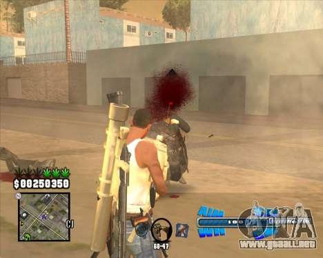C-HUD Big Cull para GTA San Andreas tercera pantalla