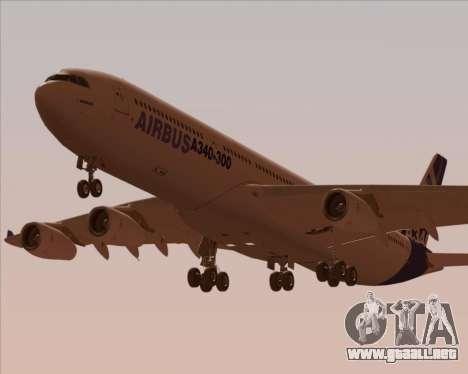Airbus A340-300 Airbus S A S House Livery para el motor de GTA San Andreas