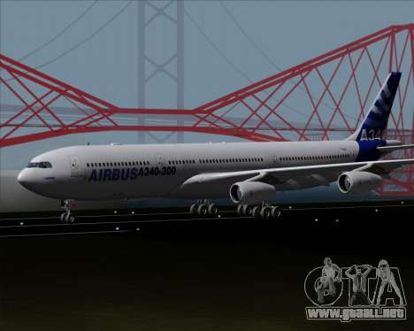 Airbus A340-300 Airbus S A S House Livery para GTA San Andreas left