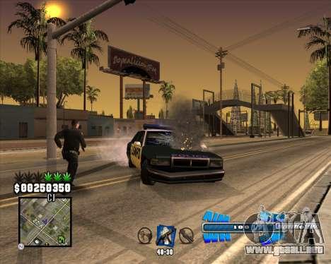 C-HUD Big Cull para GTA San Andreas sucesivamente de pantalla
