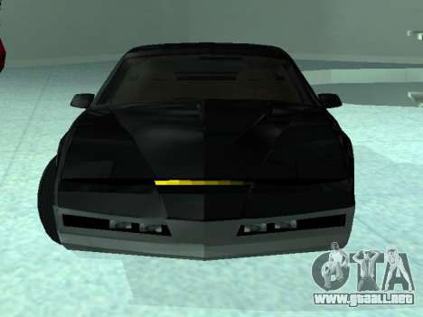Pontiac Trans-Am K. R. R. R. para GTA San Andreas vista posterior izquierda