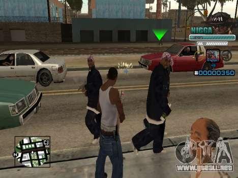 C-HUD Hombre en una Tapa para GTA San Andreas segunda pantalla