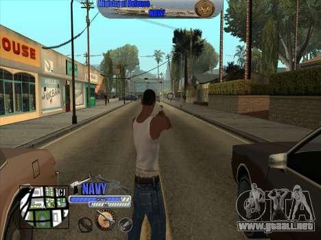C-HUD de la Marina - ВМФ para GTA San Andreas tercera pantalla
