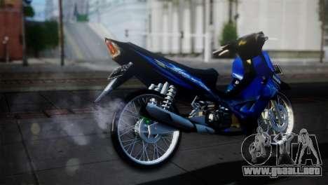 Yamaha Jupiter Z Burhan para GTA San Andreas vista posterior izquierda