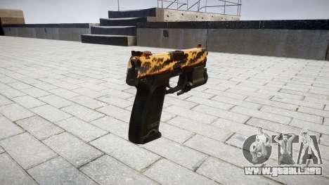 La pistola HK USP 45 tigre para GTA 4 segundos de pantalla