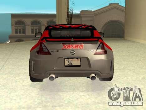 Nissan 370 Z Z34 2010 Ajustables para el motor de GTA San Andreas