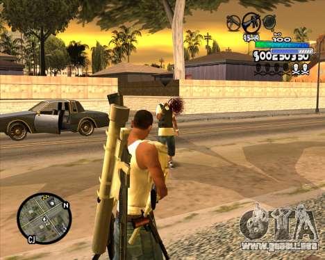 С-HUD Metro para GTA San Andreas tercera pantalla