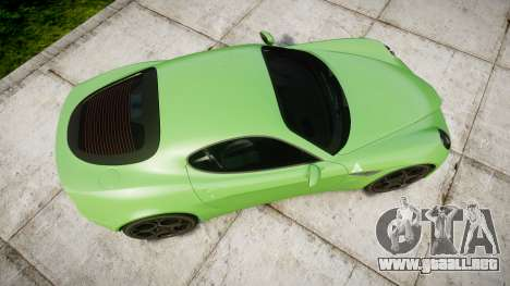 Alfa Romeo 8C Competizione 2008 para GTA 4 visión correcta
