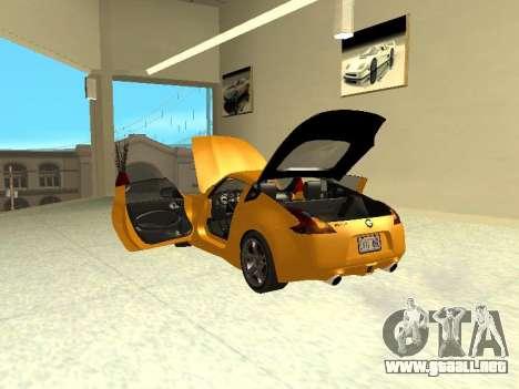 Nissan 370 Z Z34 2010 Ajustables para visión interna GTA San Andreas
