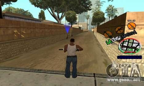 C-HUD La Cosa Nostra para GTA San Andreas sucesivamente de pantalla