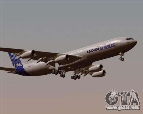 Airbus A340-300 Airbus S A S House Livery para visión interna GTA San Andreas