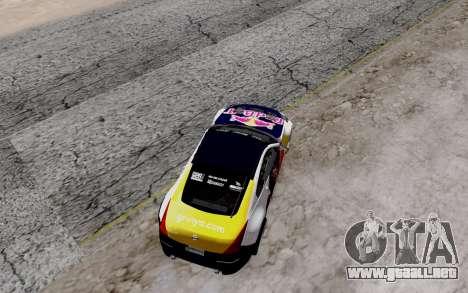Nissan 350Z Red Bull para visión interna GTA San Andreas
