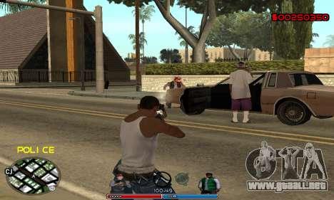 C-HUD Police para GTA San Andreas sucesivamente de pantalla