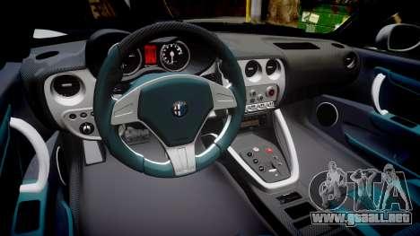 Alfa Romeo 8C Competizione 2008 para GTA 4 vista interior