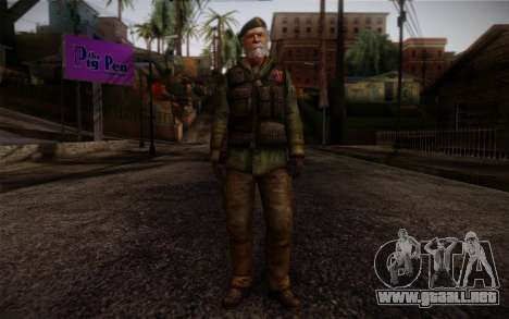 Bill from Left 4 Dead Beta para GTA San Andreas