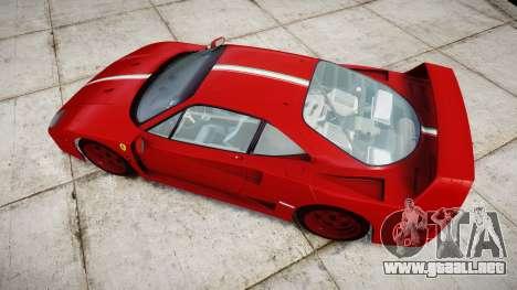 Ferrari F40 1987 [EPM] Tricolore para GTA 4 visión correcta
