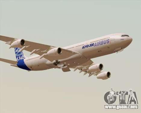 Airbus A340-300 Airbus S A S House Livery para vista inferior GTA San Andreas