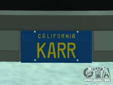 Pontiac Trans-Am K. R. R. R. para GTA San Andreas vista hacia atrás