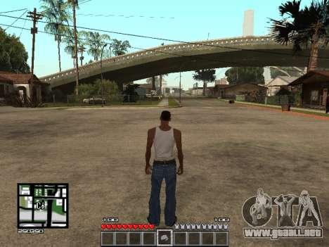 C-Hud Minecraft para GTA San Andreas segunda pantalla