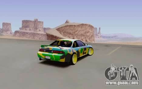 Nissan Silvia S14 Hunter para GTA San Andreas vista posterior izquierda