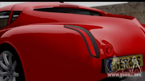 Morgan AeroSS 2013 v1.0 para GTA San Andreas vista hacia atrás