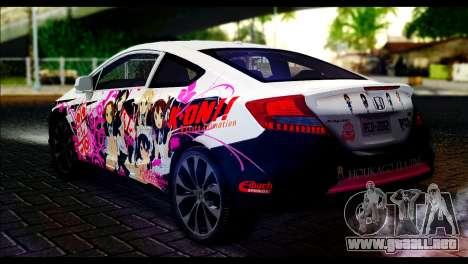 Honda Civic SI 2012 Itasha K-ON para GTA San Andreas left