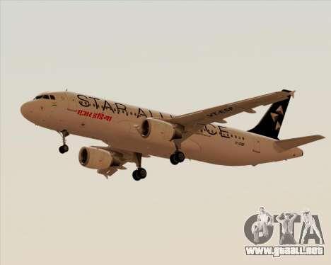 Airbus A320-200 Air India (Star Alliance Livery) para GTA San Andreas left