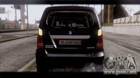 Suzuki Wagon R 2010 para visión interna GTA San Andreas