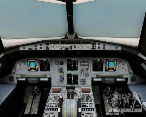 Airbus A320-200 Air India (Star Alliance Livery) para GTA San Andreas interior