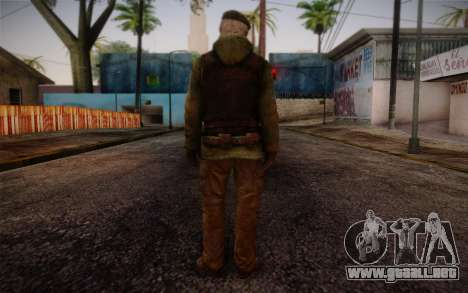 Bill from Left 4 Dead Beta para GTA San Andreas segunda pantalla