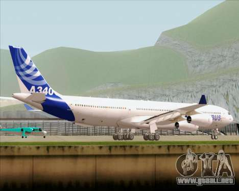 Airbus A340-300 Airbus S A S House Livery para GTA San Andreas vista posterior izquierda