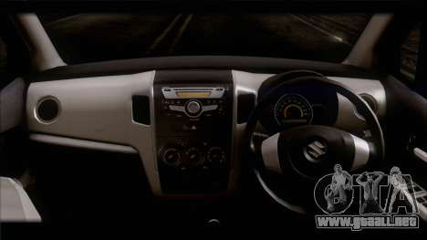 Suzuki Wagon R 2010 para GTA San Andreas vista posterior izquierda