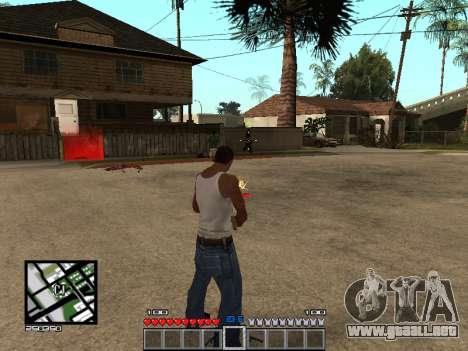 C-Hud Minecraft para GTA San Andreas tercera pantalla