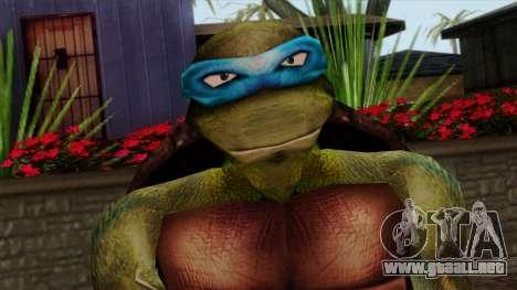 Leo (Las Tortugas Ninja) para GTA San Andreas tercera pantalla