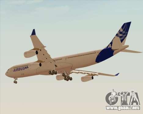 Airbus A340-300 Airbus S A S House Livery para GTA San Andreas vista hacia atrás