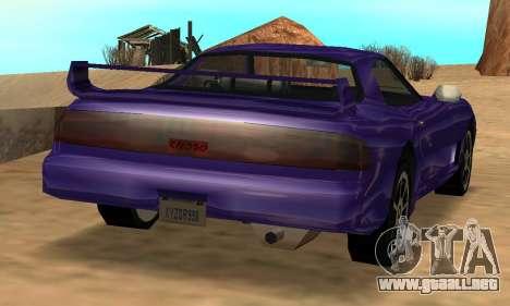 Beta ZR-350 para vista inferior GTA San Andreas