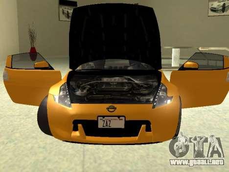 Nissan 370 Z Z34 2010 Ajustables para la visión correcta GTA San Andreas